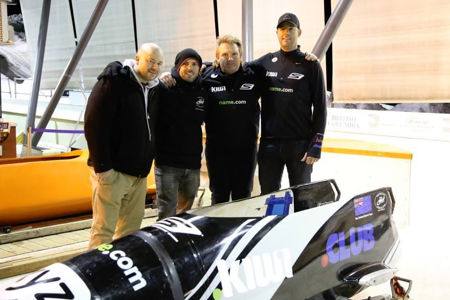 New Zealand Bobsled Team Photo
